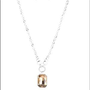 Queen Bling - Brown Necklace Earring Jewelry Set